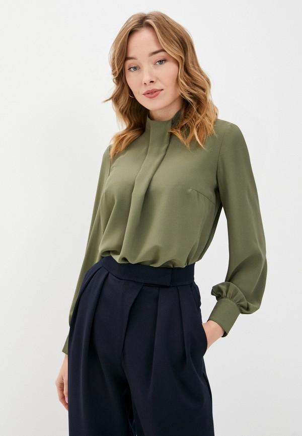 женская блузка с длинным рукавом viserdi, хаки