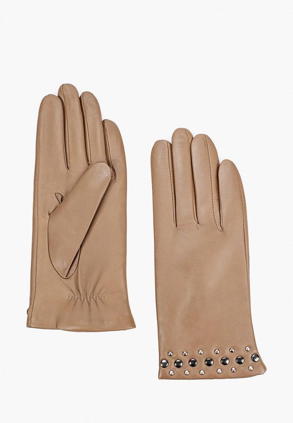 женские кожаные перчатки lantana, бежевые