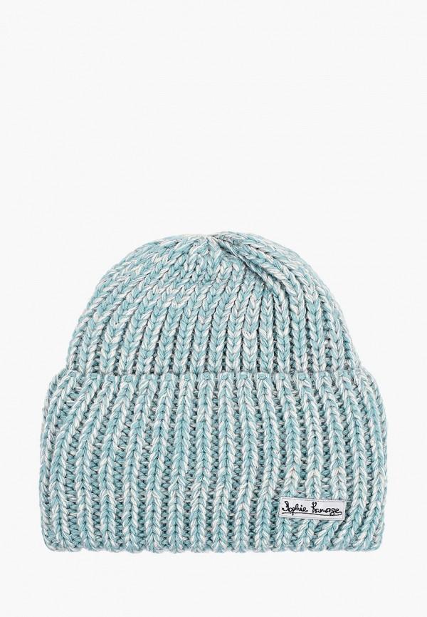 женская шапка sophie ramage, бирюзовая