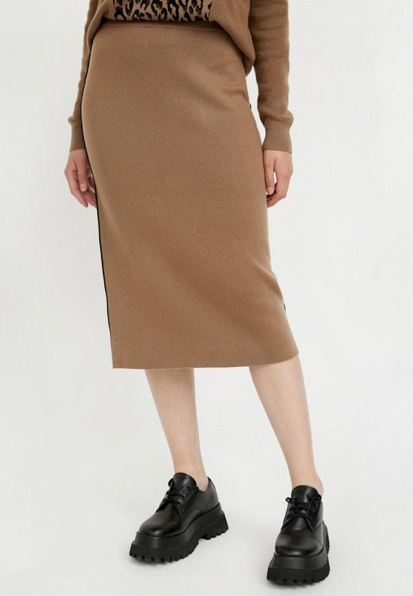 Юбка Finn Flare коричневого цвета