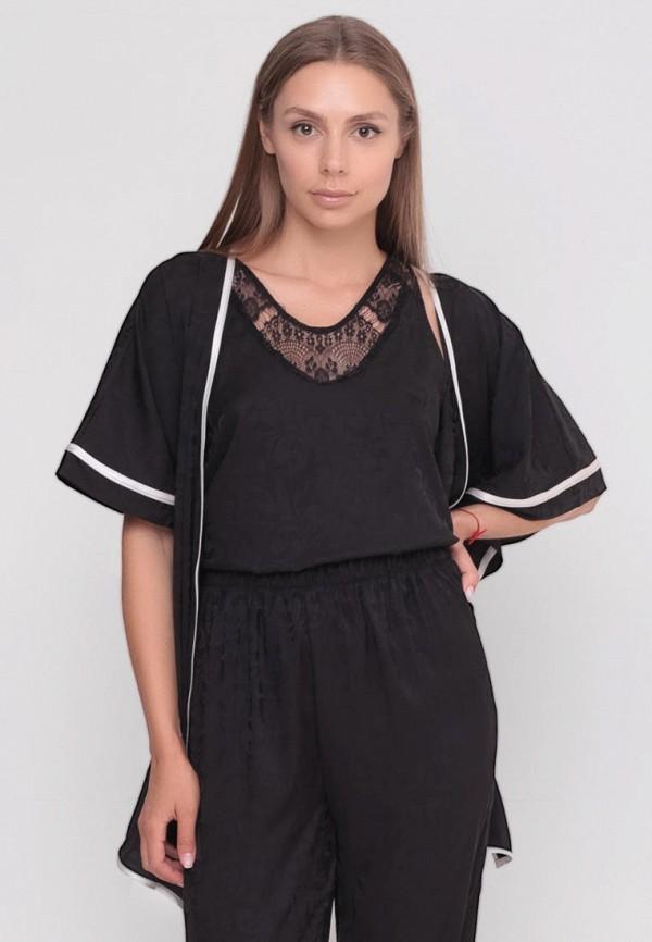 женский халат sfn, черный