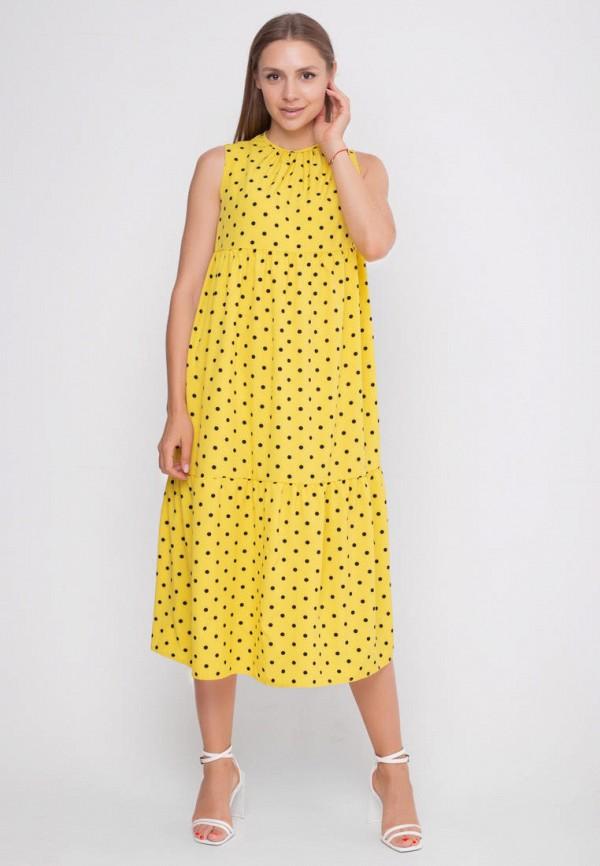 женское повседневные платье sfn, желтое