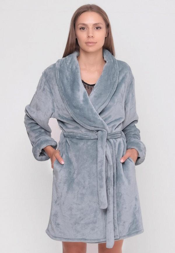 женский халат sfn, голубой