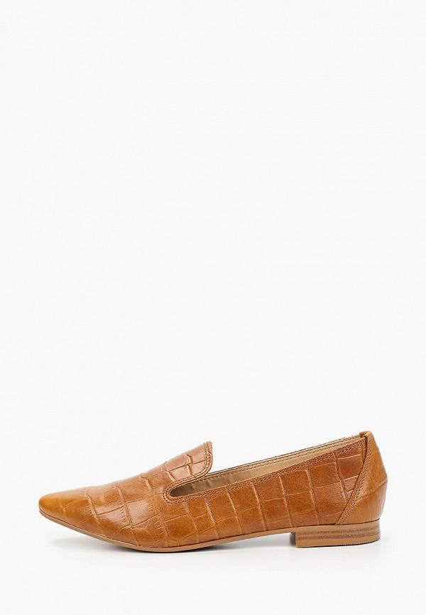 женские лоферы pazolini, коричневые