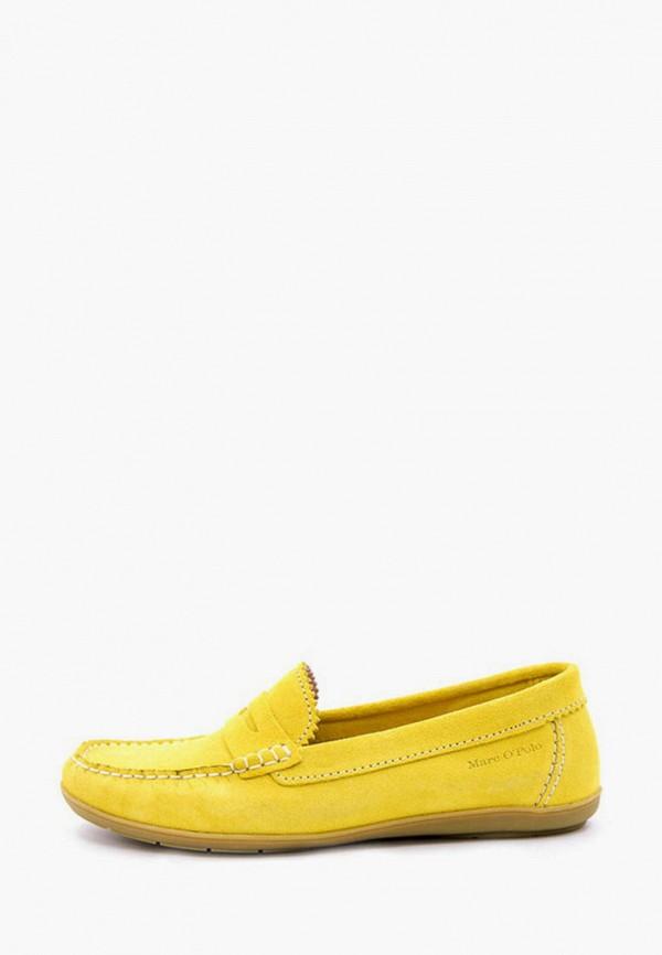 женские мокасины marc o'polo, желтые