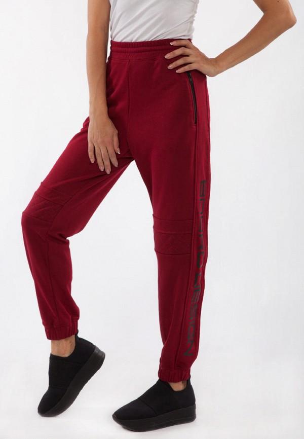 женские спортивные брюки bodro design, бордовые