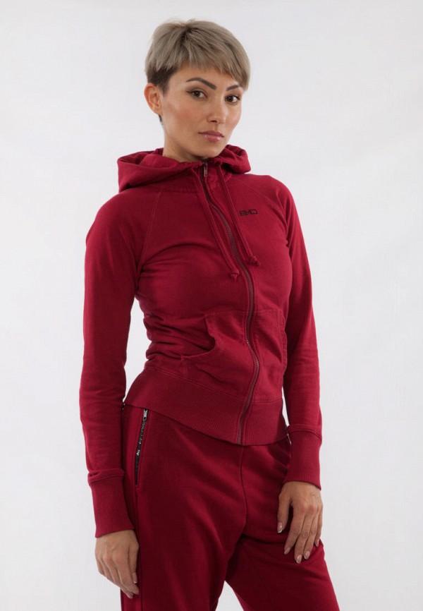 женская толстовка bodro design, бордовая