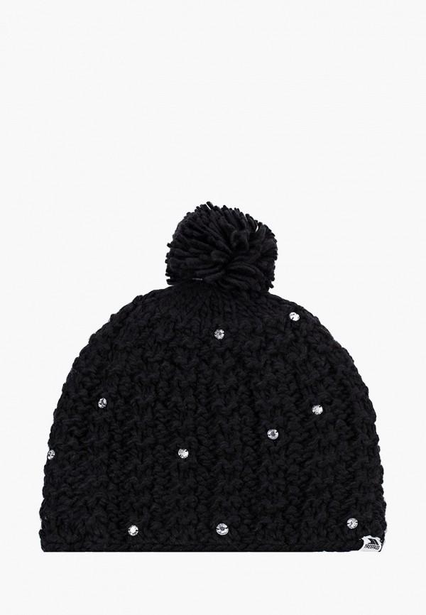женская шапка trespass, черная