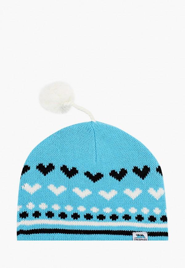 женская шапка trespass, голубая