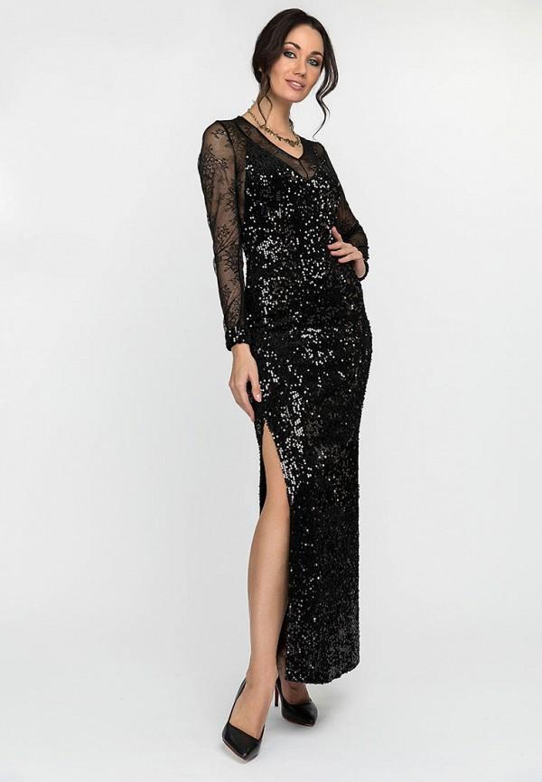 женское вечерние платье gloss, черное