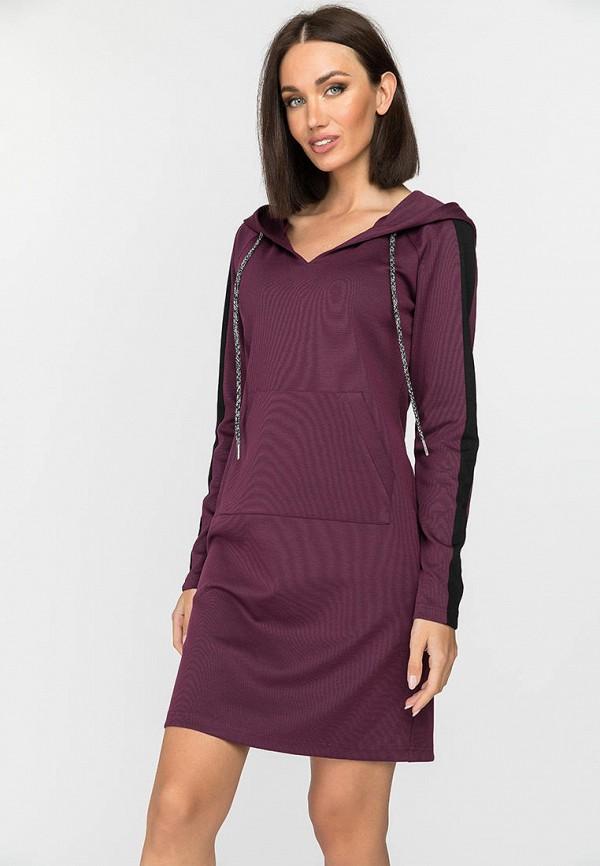 женское платье-толстовки gloss, бордовое