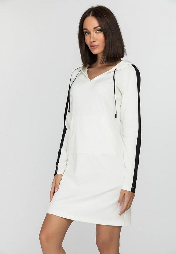 женское платье-толстовки gloss, белое