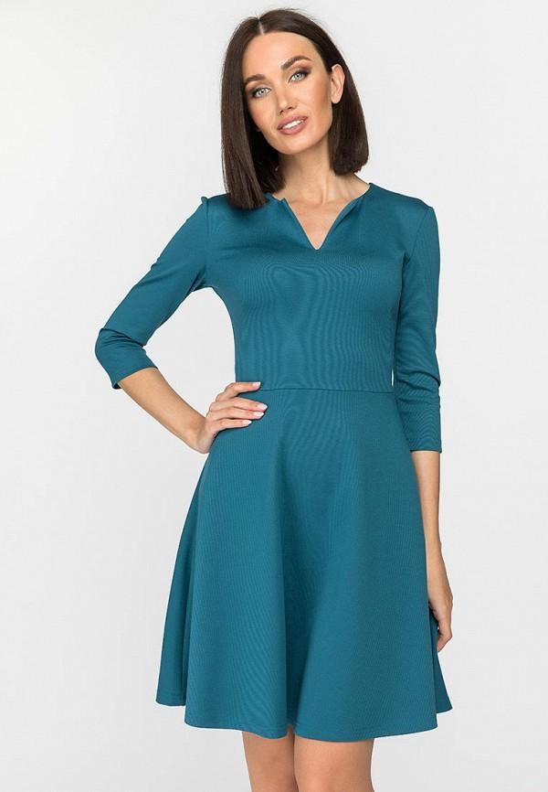 женское повседневные платье gloss, бирюзовое