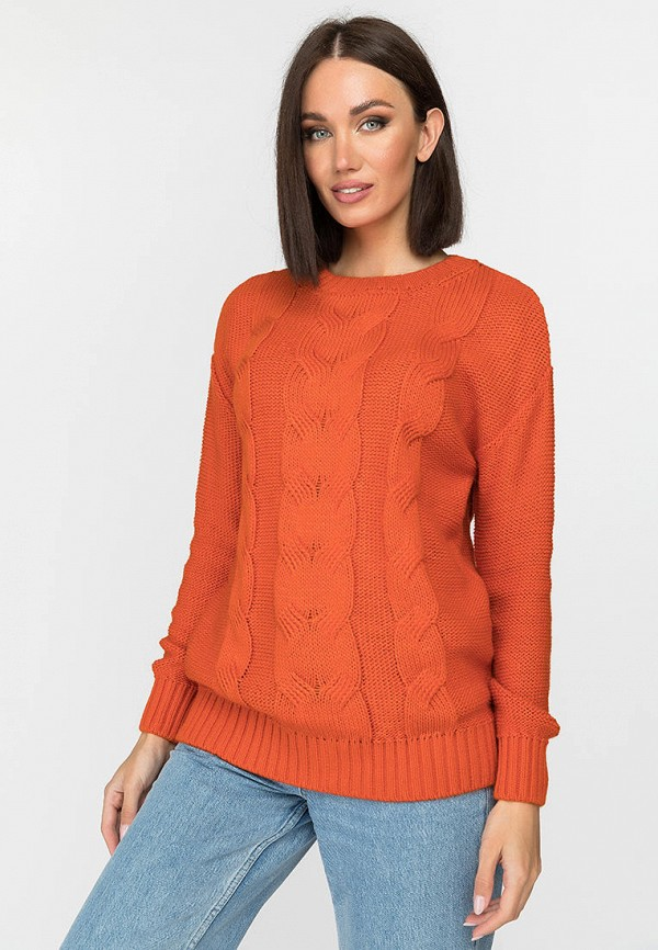 женский джемпер gloss, оранжевый