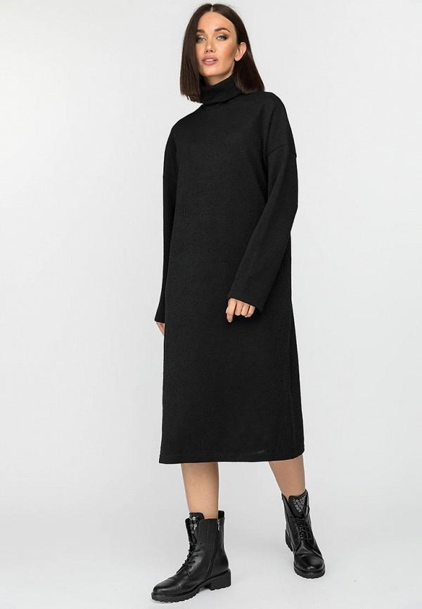 женское платье-свитеры gloss, черное