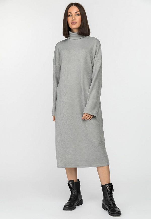 женское платье-свитеры gloss, серое