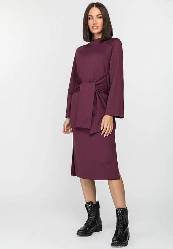 женское повседневные платье gloss, бордовое