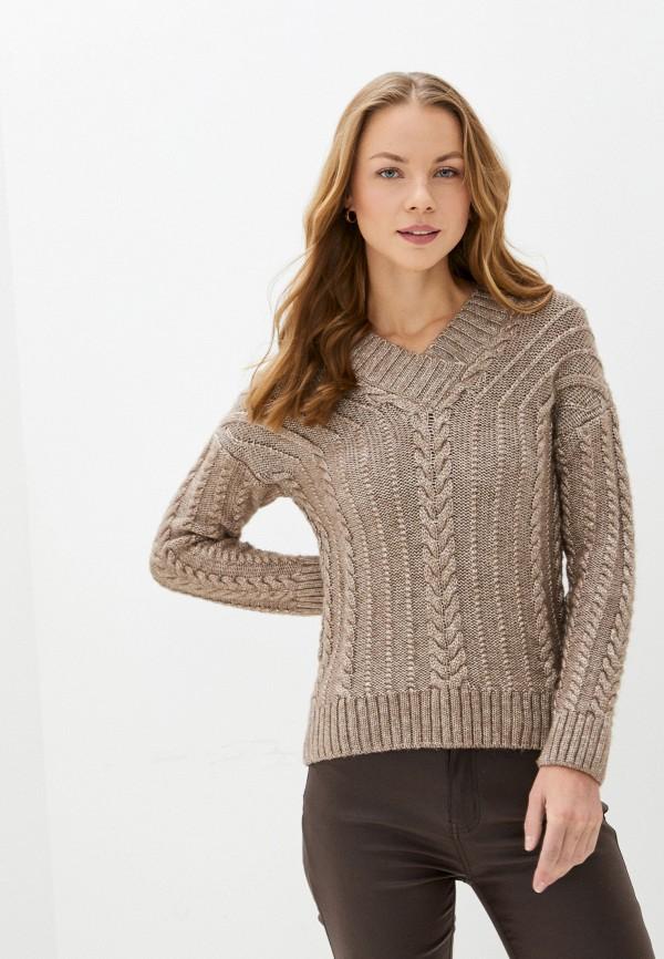 женский пуловер baon, бежевый