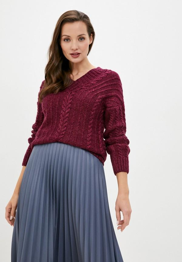 женский пуловер baon, бордовый