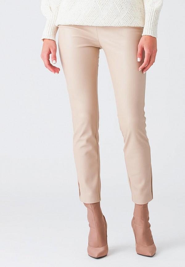 женские кожаные брюки love republic, бежевые