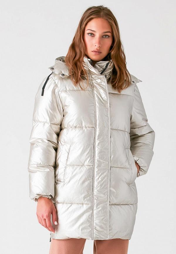 женская утепленные куртка love republic, серебряная