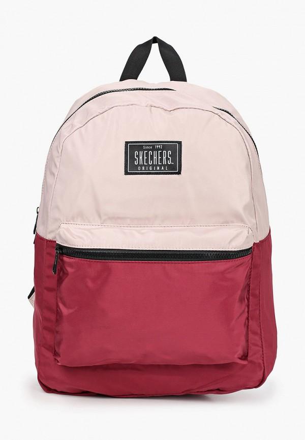 женский рюкзак skechers, бордовый