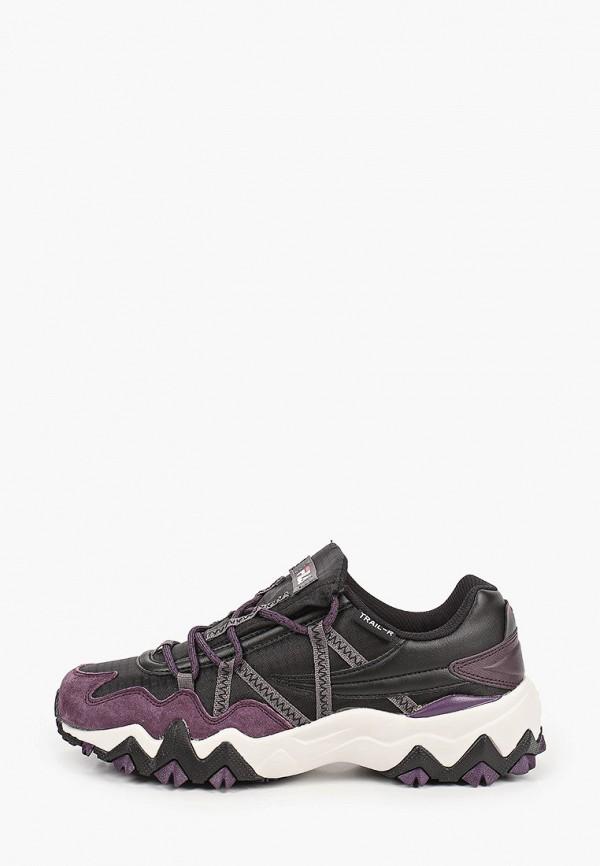 женские низкие кроссовки fila, черные
