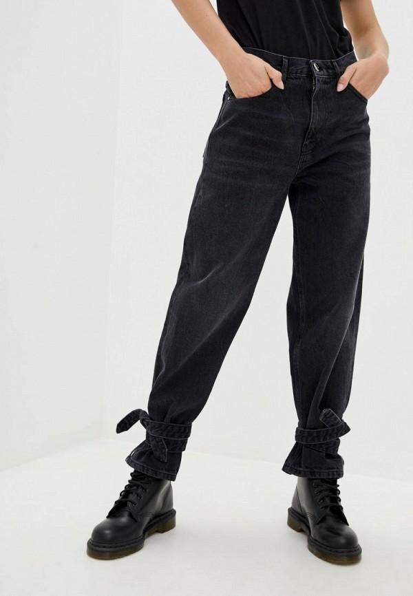 женские джинсы бойфренд pinko, черные