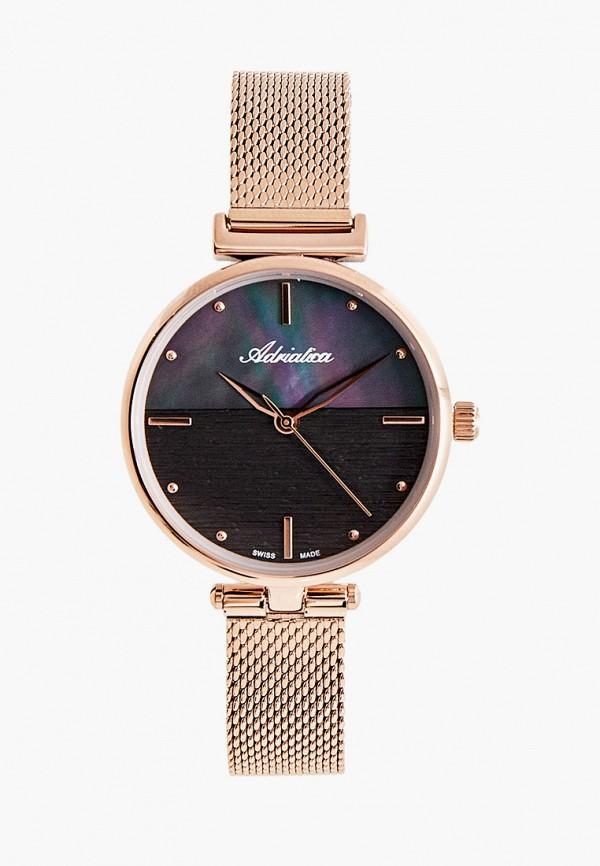 женские часы adriatica, розовые