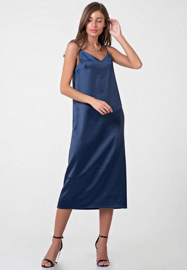 женское платье-комбинация fly, синее