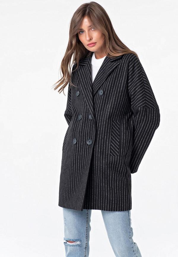 женское двубортные пальто fly, черное