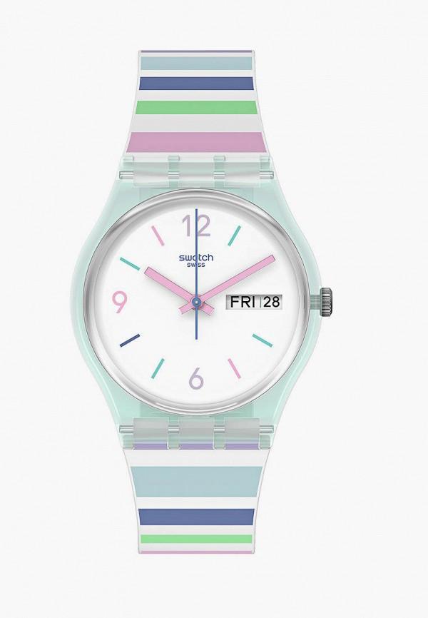 женские часы swatch, разноцветные