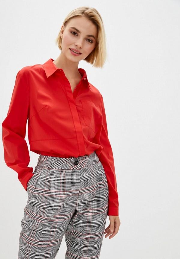 женская рубашка с длинным рукавом berdichevski, красная