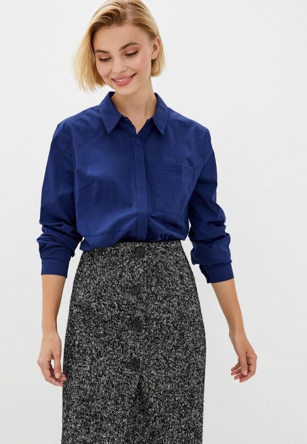 женская рубашка с длинным рукавом berdichevski, синяя