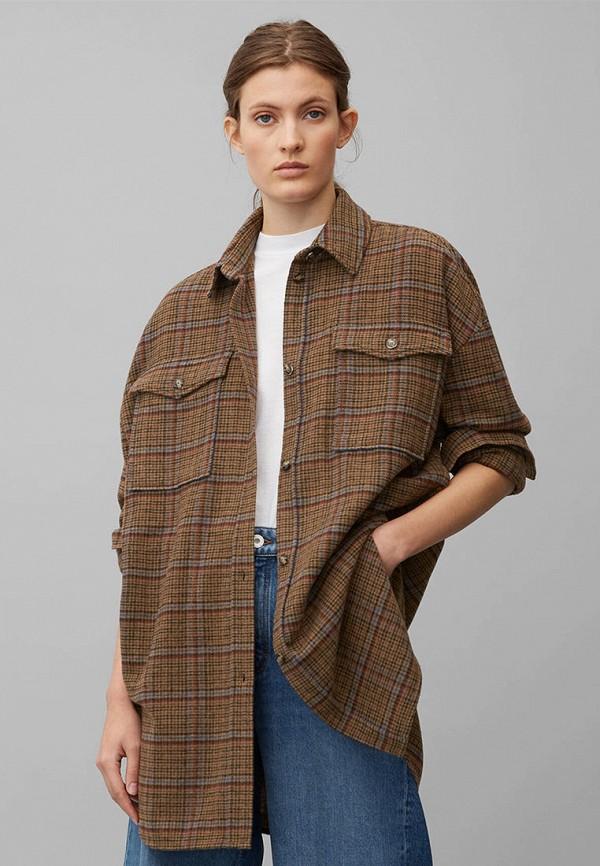 женская блузка marc o'polo, коричневая