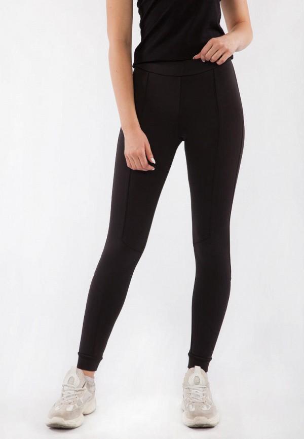 женские спортивные леггинсы bodro design, черные