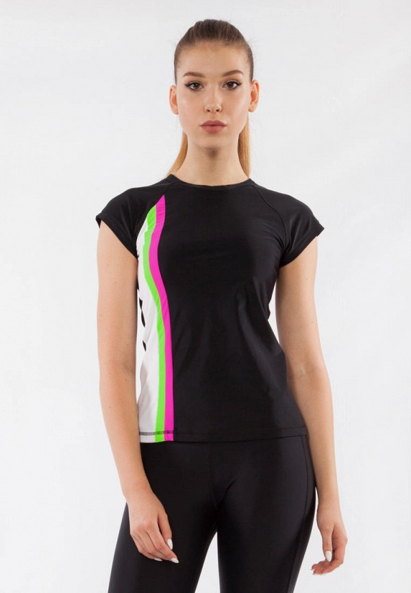 женская футболка bodro design, черная