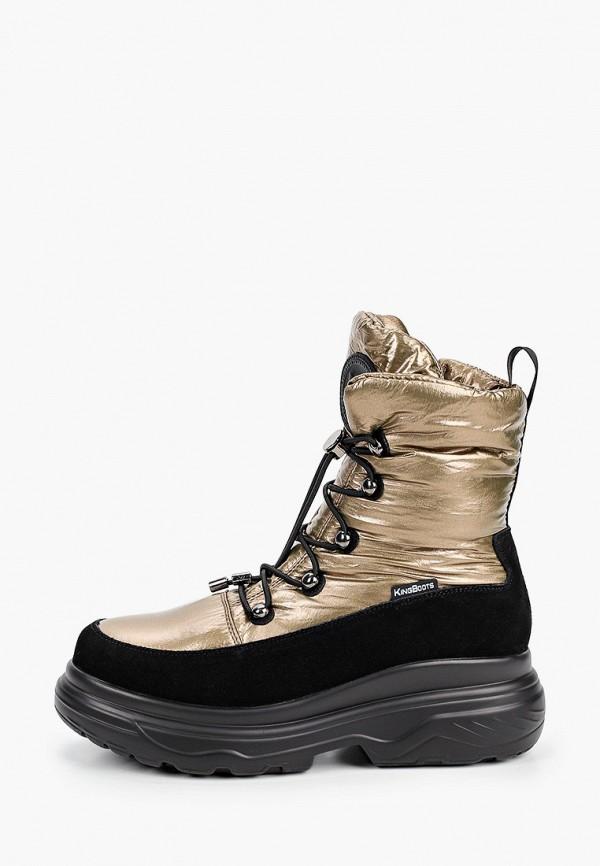 женские дутики king boots, золотые