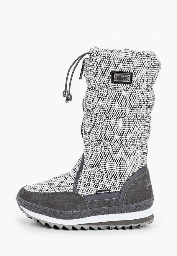 женские дутики king boots, серые