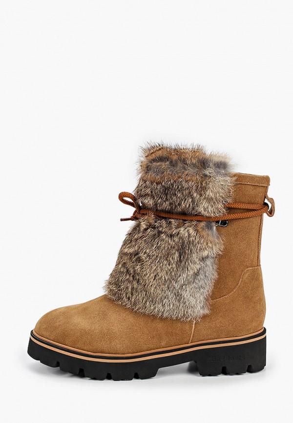 женские полусапожки king boots, коричневые
