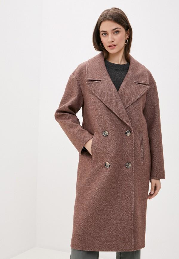женское пальто ovelli, коричневое