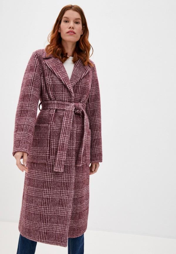 женское пальто ovelli, бордовое