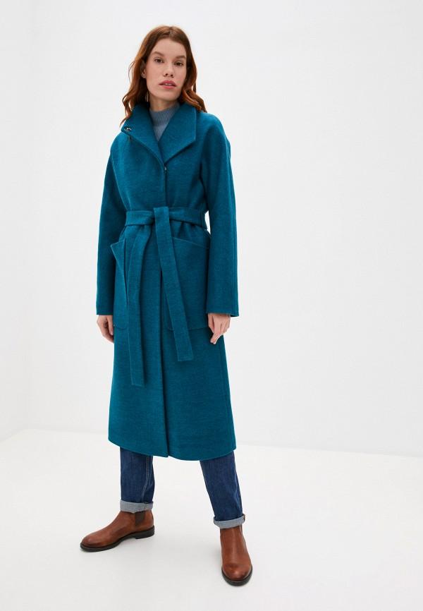 женское пальто ovelli, бирюзовое