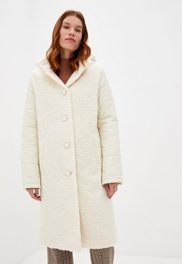 женское пальто ovelli, белое