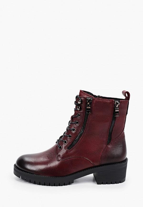 женские высокие ботинки thomas munz, бордовые