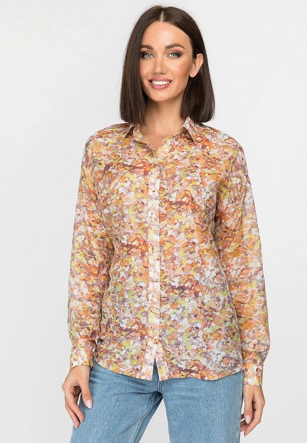 женская рубашка с длинным рукавом gloss, разноцветная