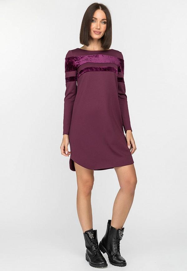женское повседневные платье gloss, фиолетовое
