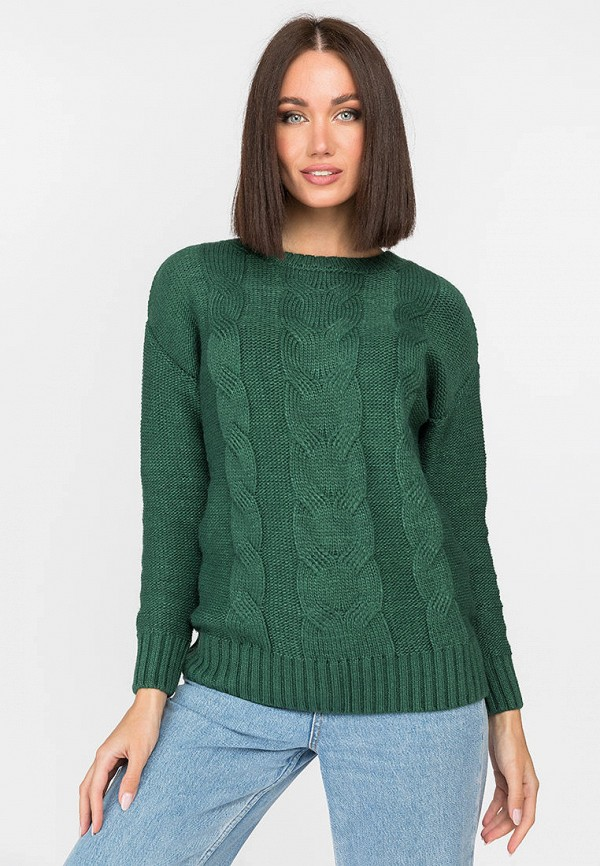женский джемпер gloss, зеленый