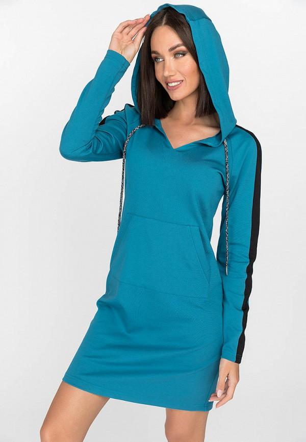 женское платье-толстовки gloss, синее