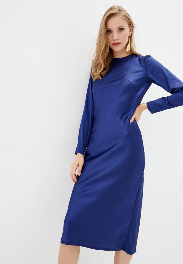 женское вечерние платье jhiva, синее